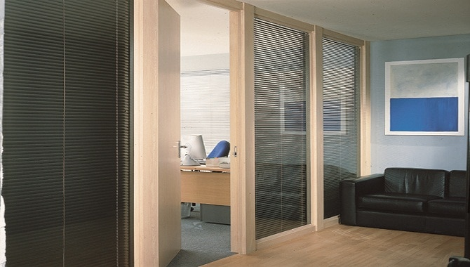 Another image of our blinds Cardiff within an office