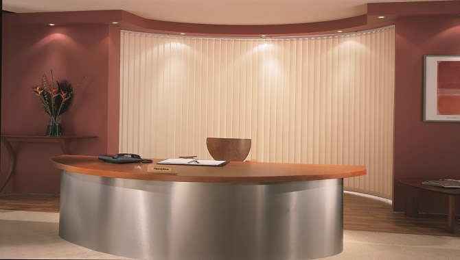 Another incredible image of our blinds Cardiff in a reception area