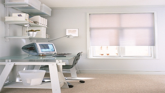 A picture of our white blinds cardiff