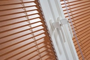 A picture of our wooden blinds Cardiff