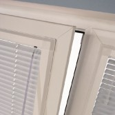 A picture of our white blinds in Cardiff