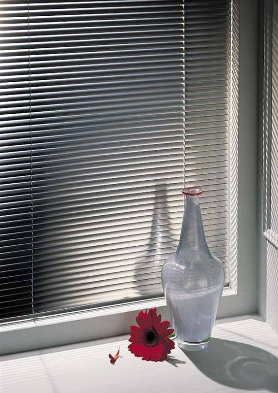 blinds on window with shadow