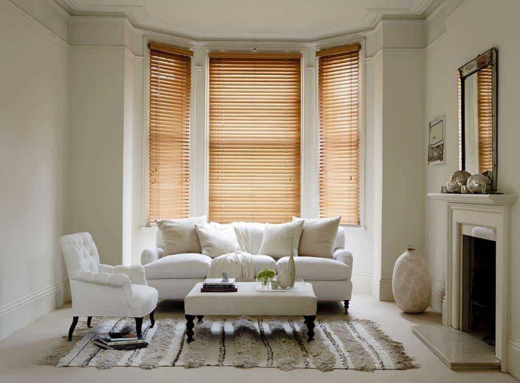 living room blinds design