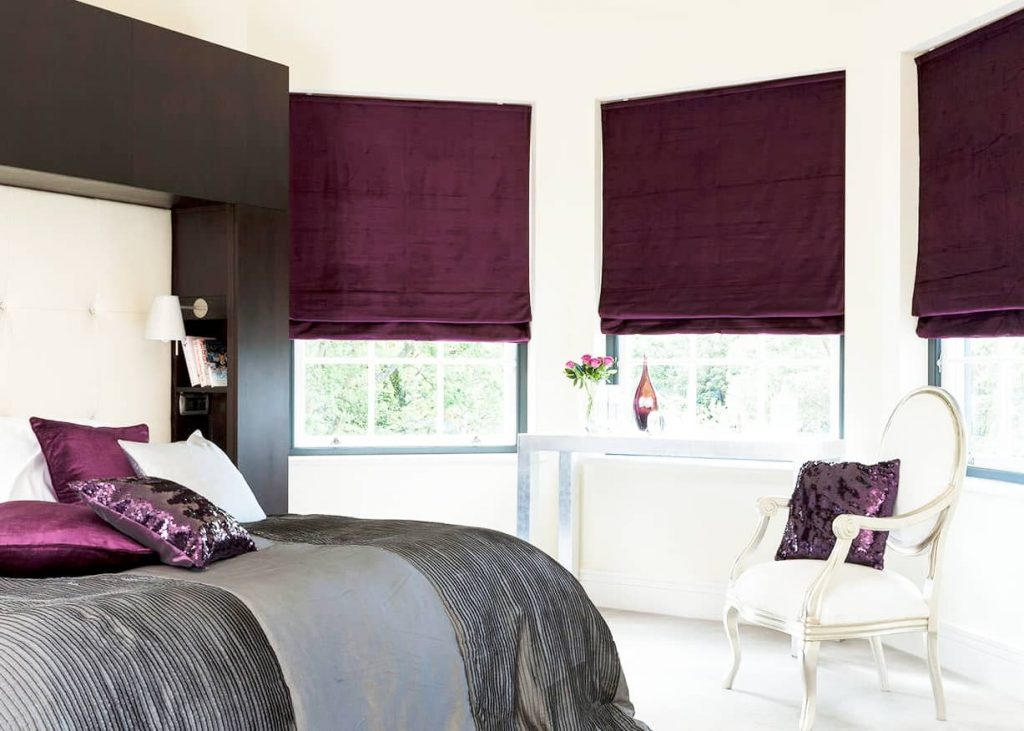 Roman Blinds in your bedroom